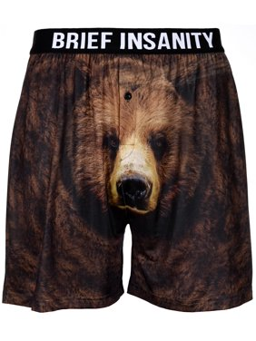 Product Image Men s Boxer Shorts Underwear by Brief Insanity Bear Cheeks  Grizzly Bear! 979115d695c