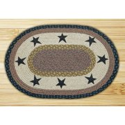 Earth Rugs OP-99 Stars Oval Patch 4 Feet x 6 Feet