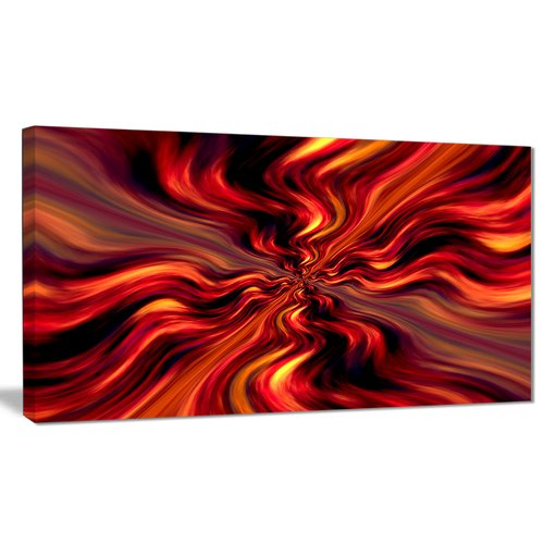 Design Art 'Red Infinity Illustration' Graphic Art on Wrapped Canvas