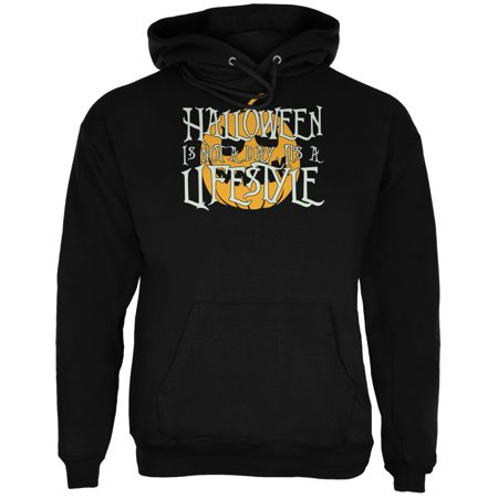 Halloween Lifestyle Black Adult Hoodie - Open Your Life Halloween