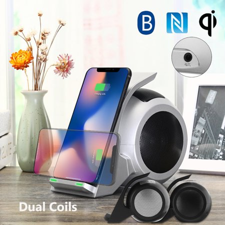 Qi Wireless Fast Charger bluetooth/NFC Hifi Speaker Music Player for iphone  XS MAX XR X 8 8P 8 Plus for Samsung S8 Note8