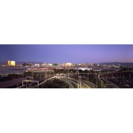 Roads in a city with an airport in the background McCarran International Airport Las Vegas Clark County Nevada USA Canvas Art - Panoramic Images (18 x 6)