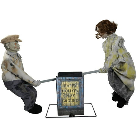 See Saw Dolls Playground Halloween Decoration - Outdoor Halloween Decoration Clearance