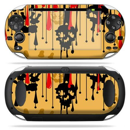 Mightyskins Protective Vinyl Skin Decal Cover for PS Vita PSVITA  Playstation Vita Portable wrap sticker skins Burning Skull