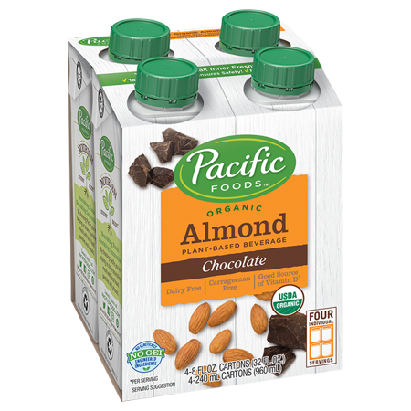 (2 pack) Pacific Foods Organic Almond Non-Dairy Chocolate Beverage, 8 fl