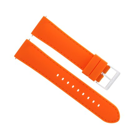 20MM SILICONE RUBBER WATCH BAND STRAP FOR 36MM ROLEX DATEJUST, DATE ORANGE 5P