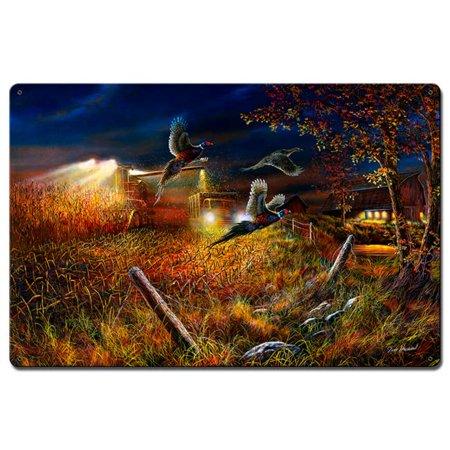 Jim Hansel JH153 16 x 24 in. Field Of Dreams Satin Metal Sign