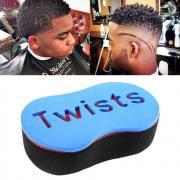 Jeobest 1PC Curls Sponge - Magic Hair Twist Sponge Dreads Twisting Locks Barber Hair Brush Wave Design Dreadlocks Curl Brush Sponge MZ