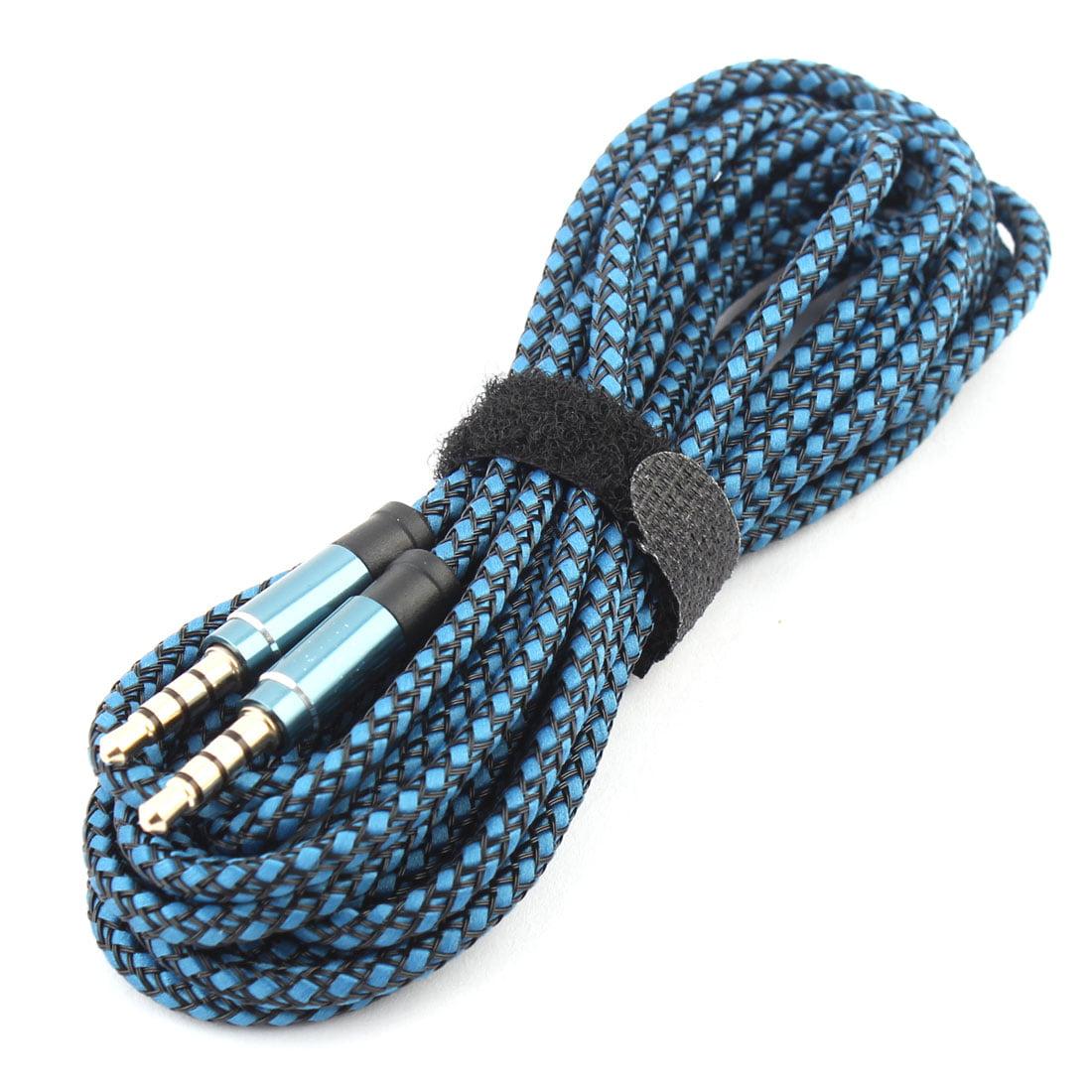 Unique BargainsMP3 Player Nylon Anti-Friction 3.5mm Male to Male Aux Cord Audio Cable Blue - image 3 de 5