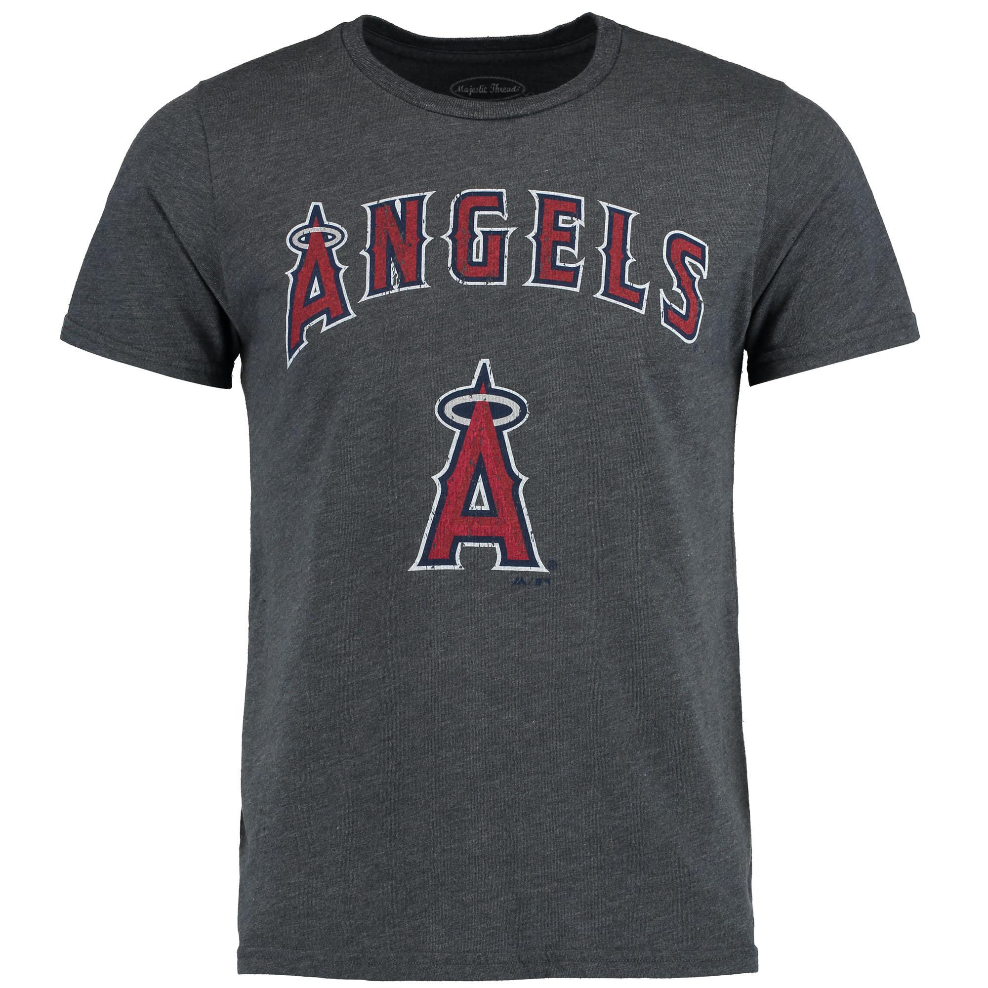 Los Angeles Angels Majestic Threads Premium Granite Tri-Blend T-Shirt - Charcoal