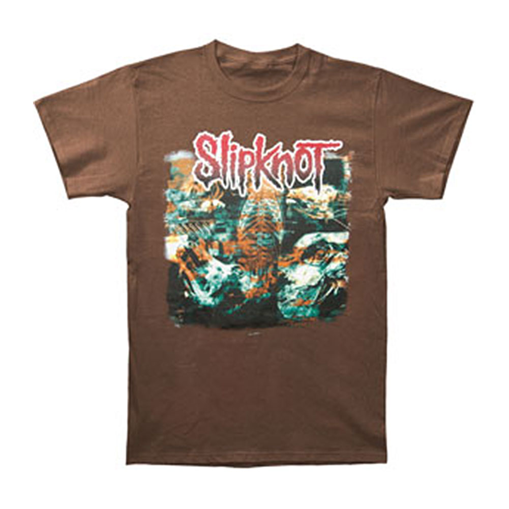 Slipknot Men's  Cow Skull Brown T-shirt Brown