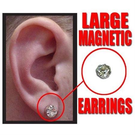 12 Pack Large Diamond Stud Magnetic Earrings
