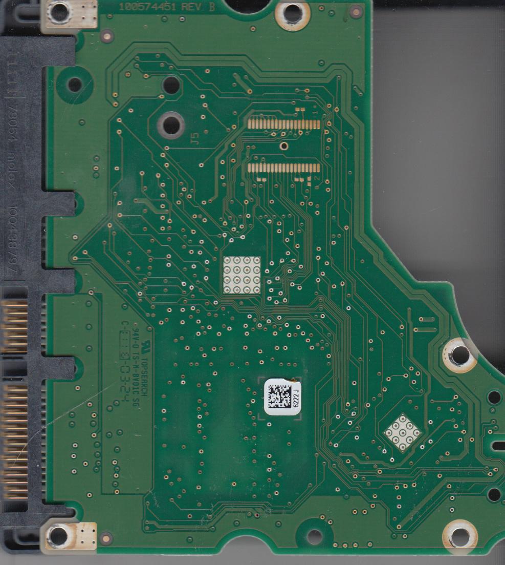 ST31000524AS, 9YP154-303, JC45, 6222 J, Seagate SATA 3.5 PCB