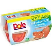 Dole Red Grapefruit Sunrise In A Blend Of 100% Fruit Juice, 4 Oz, 4 Count Box
