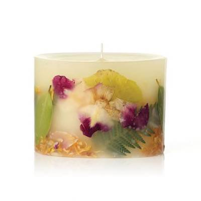 Petite Oval Green - YUZU and WILD PALM Rosy Rings Petite Oval Botanical 60 Hour Pillar Candle
