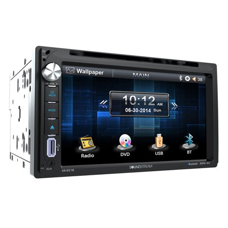 """Soundstream VR-651B 6.5"""" Double-DIN In-Dash DVD Receiver with Bluetooth"""