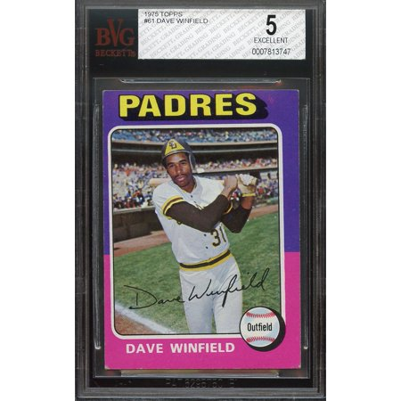 1975 topps #61 DAVE WINFIELD san diego padres BGS BVG