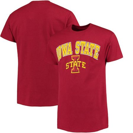 - W Republic Apparel 527-125-339-05 Iowa State University Athletic Tee, Cardinal - 2XL