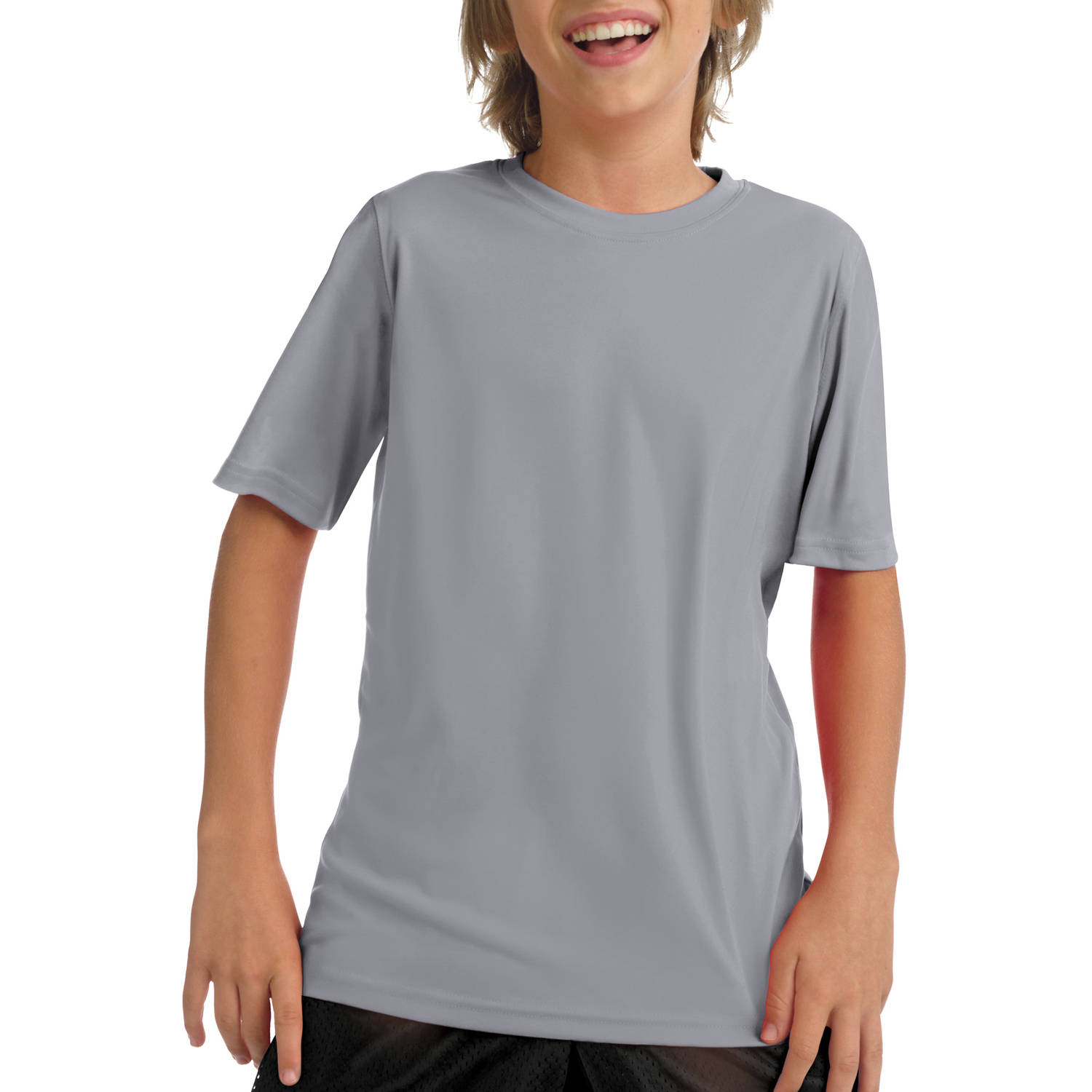 Hanes Boys' Short Sleeve CoolDri Performance Tee (50+ UPF Rating)