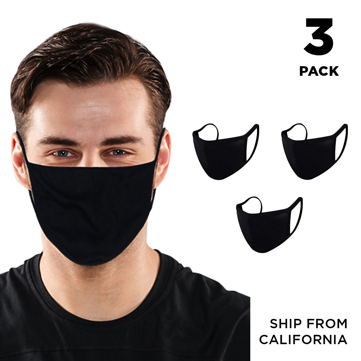 CSPRING 8 Pack Cute Funny Black and White Reusable Cotton Face Cover Mouth Mask for Men Women Teens