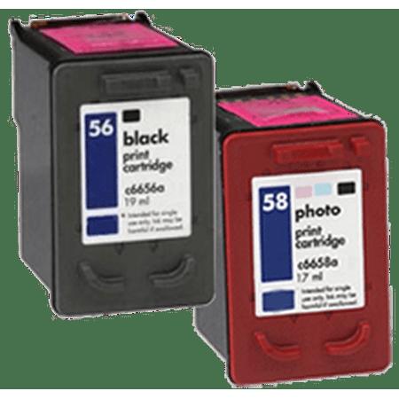 Zoomtoner Compatible HP PSC 2405 HP C6656A / C6658A (56 / 58) INK / INKJET Cartridge Combo Pack Noir Photo - image 1 de 1