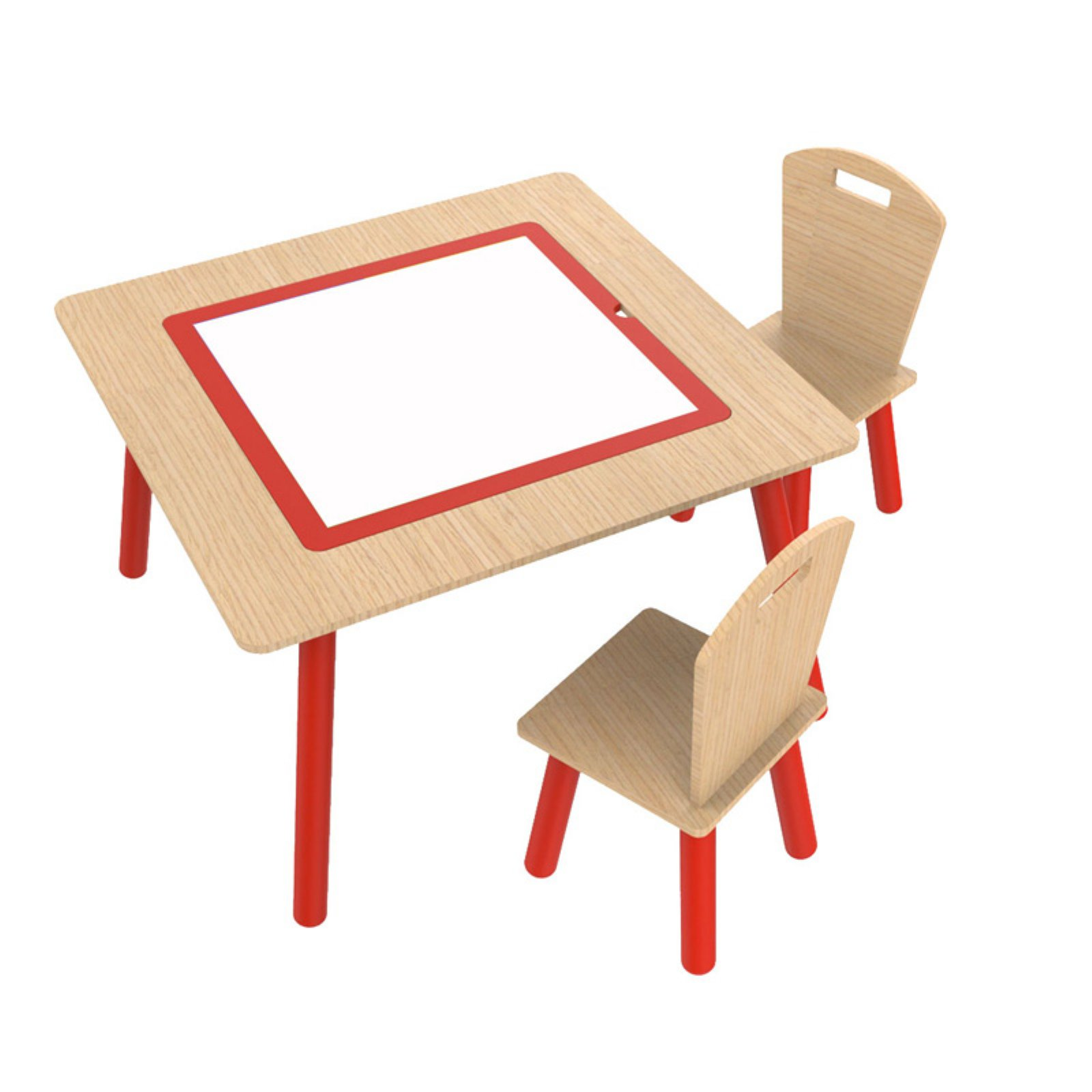 O'Kids 4-in-1 Flip Top Multi-Function Table and Chairs Set, Multiple Colors