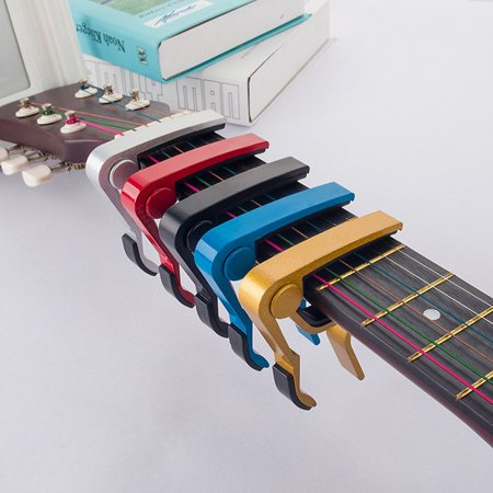 Compact Size Aluminum Alloy Guitar Tuner Clamp Professional Key Trigger Capo - image 4 de 5