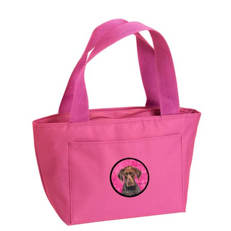 Pink German Shorthaired Pointer Lunch Bag or Doggie Bag SC9117PK