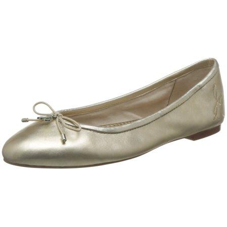 90c50fd1e Sam Edelman - Sam Edelman Women's Felicia Ballet Flat, Molten Gold Leather,  8 M US - Walmart.com
