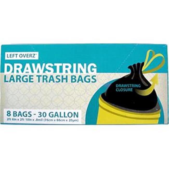 Bulk Buys 30 Gallon Drawstring Trash Bags - Case of 48