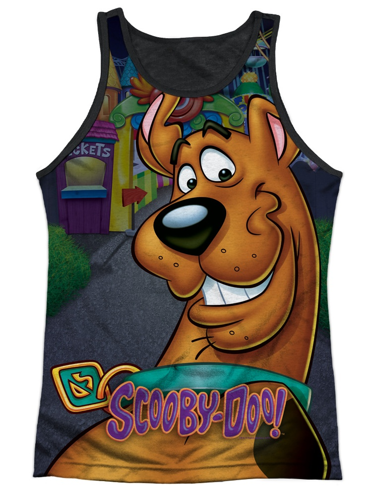 Scooby Doo Big Dog Mens Tank Top Shirt with Black Back