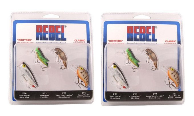 (8) Rebel PK4RB1 Classic Critters Fishing Lures Crankbait Topwater Bass etc. by
