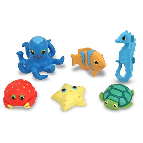 Melissa & Doug Sunny Patch Seaside Sidekicks Creature Set - Water Toys for Kids