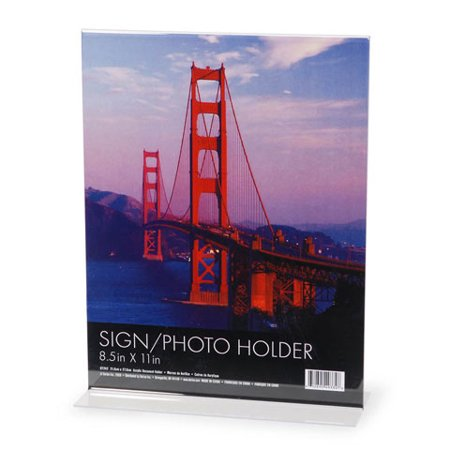 Acrylic Sign Holder - Clear - 8.5 x 11 inches