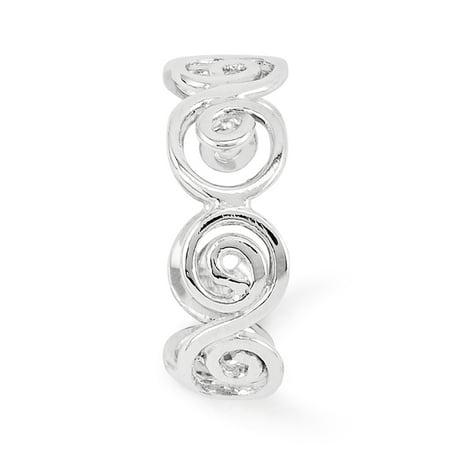 14K White Gold Swirl Toe Ring - image 3 de 5