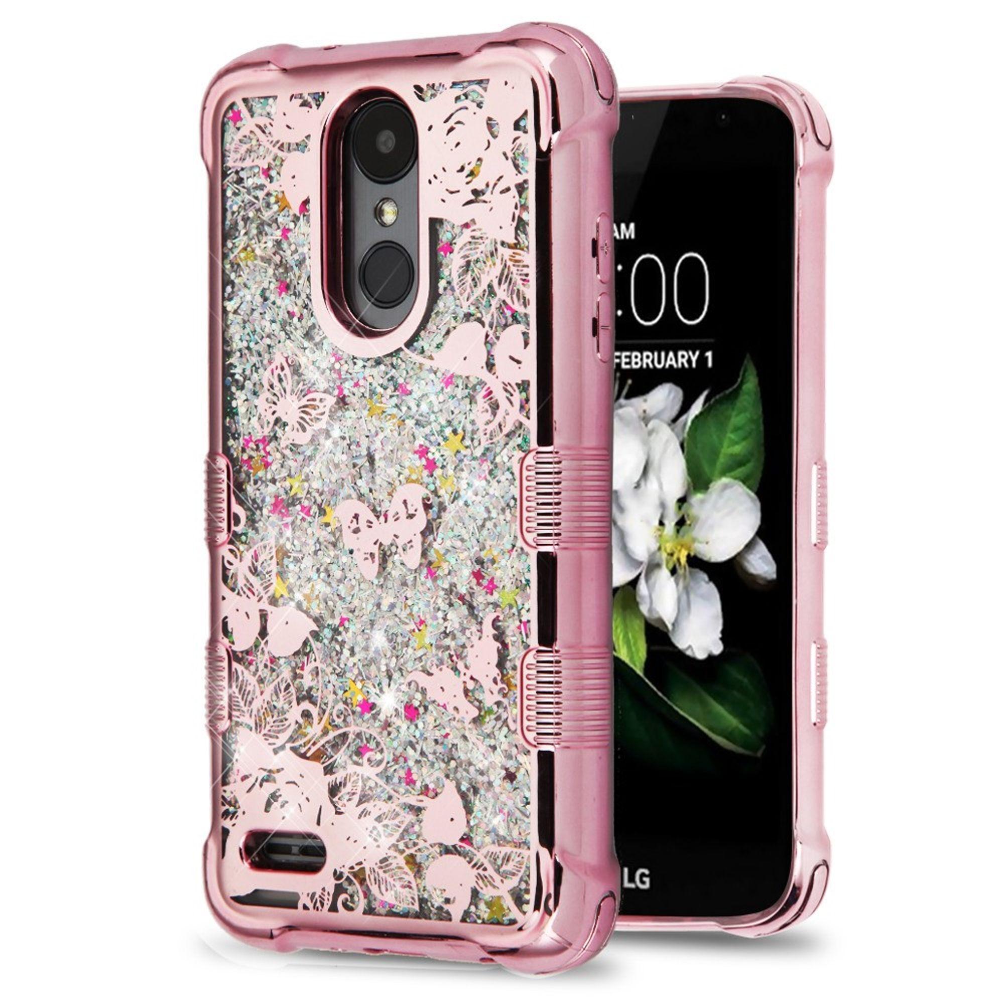 LG Aristo 2 case by Insten Luxury Quicksand Glitter Liquid Floating Sparkle Bling Fashion Phone Case Cover for LG Aristo 2 / Aristo 2 Plus / Fortune 2 / K8 2018 / Risio 3 / Zone 4