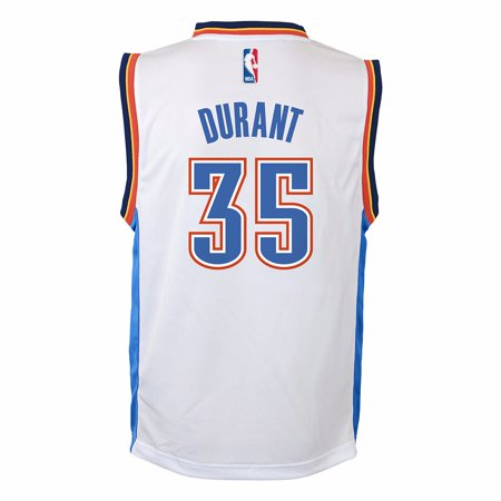 new style 7f654 2028b Kevin Durant Oklahoma City Thunder NBA Adidas White Official ...