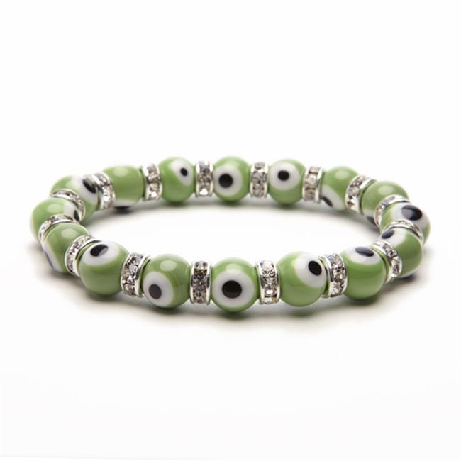 Alexander Kalifano BLUE-BEE-29 Evil Eye Gorgeous Glass Bracelets - Green