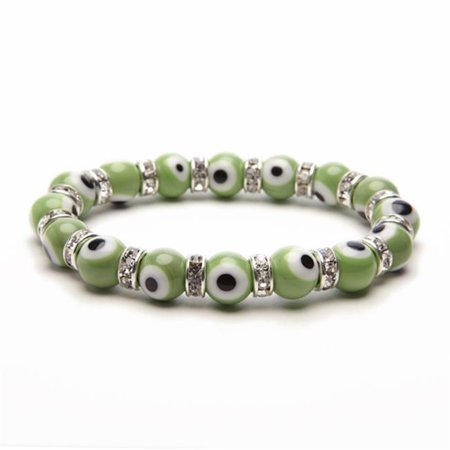 Light Green Glass Eyes - Evil Eye Gorgeous Glass Bracelets - Green