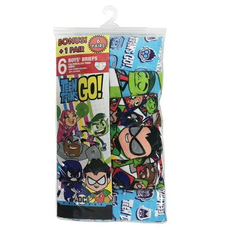 Teen Titans Briefs, 5+1 Bonus Pack (Little Boys)