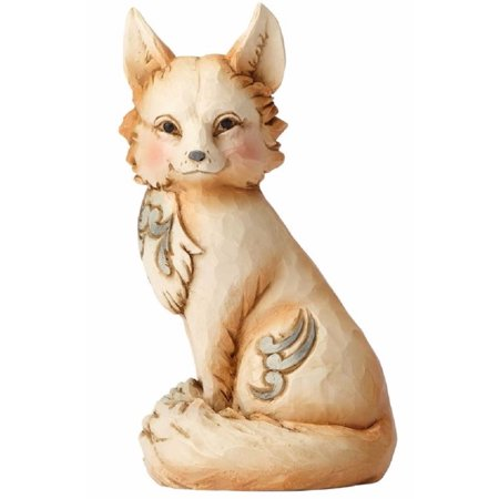Jim Shore HWC Sly Spry and Dignified White Woodland Fox Figurine 4056971 New - Woodland Fox