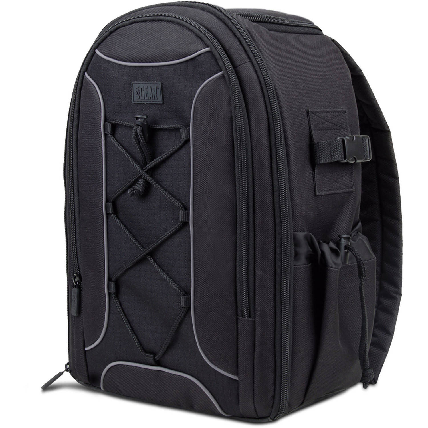 USA Gear S16 SLR Camera Backpack with Velcro Storage Dividers , Accessory Pockets & Waterproof Rain Cover - Works with Canon PowerShot SX540 HS , Nikon D3300 , Sony Alpha 7S II & More SLR Cameras
