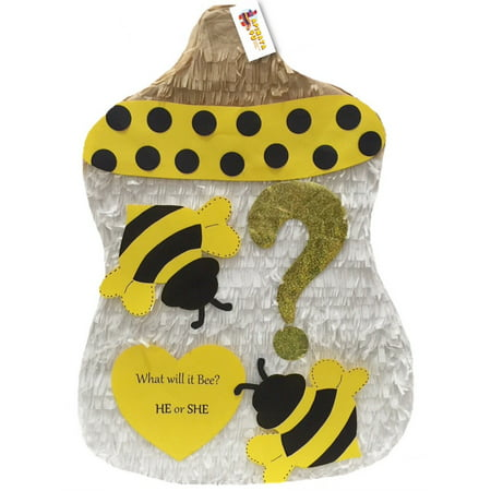 APINATA4U Bumblebee Baby Bottle Gender Reveal - Baby Pinatas