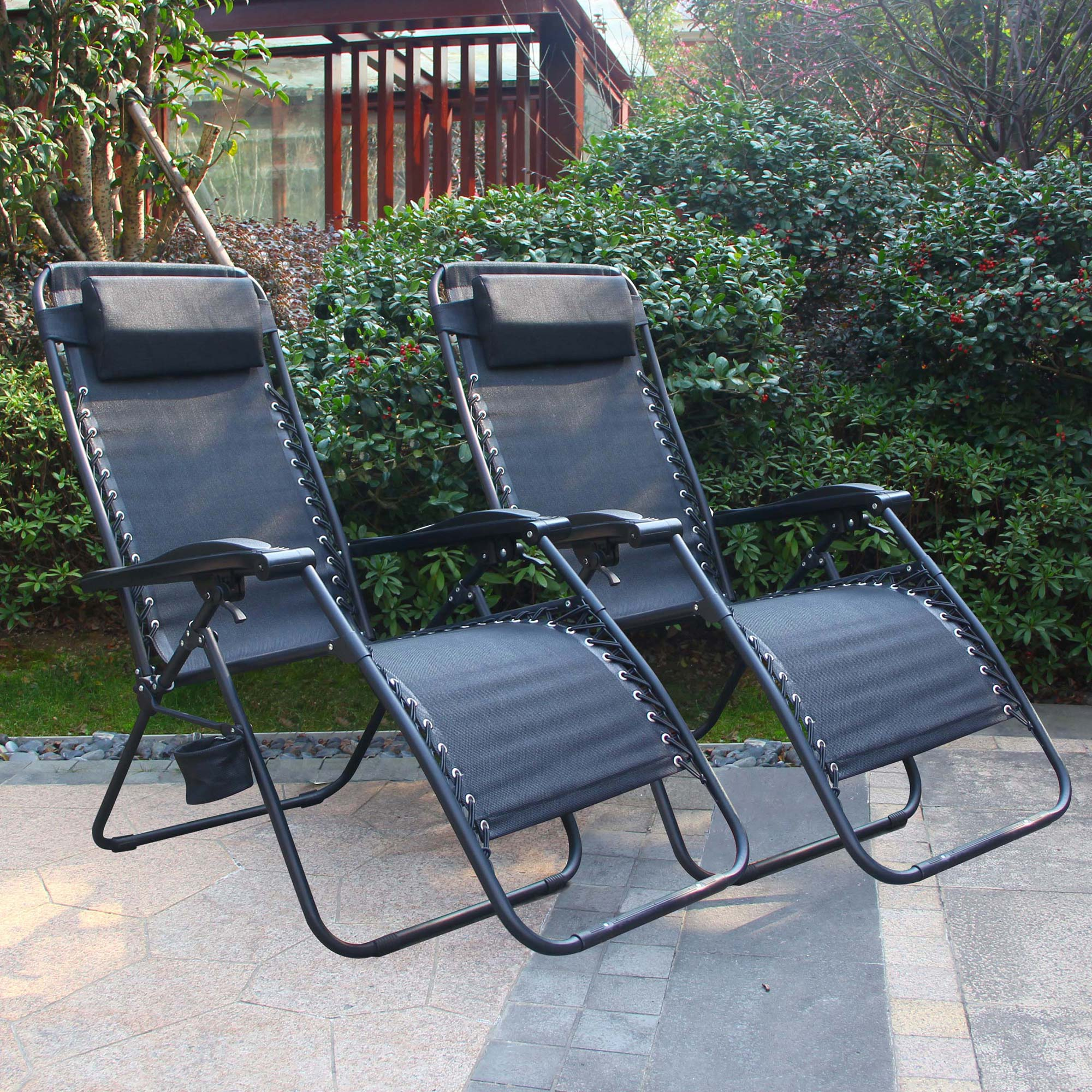 Cloud Mountain Outdoor Zero Gravity Patio Lounge 2 Chairs...
