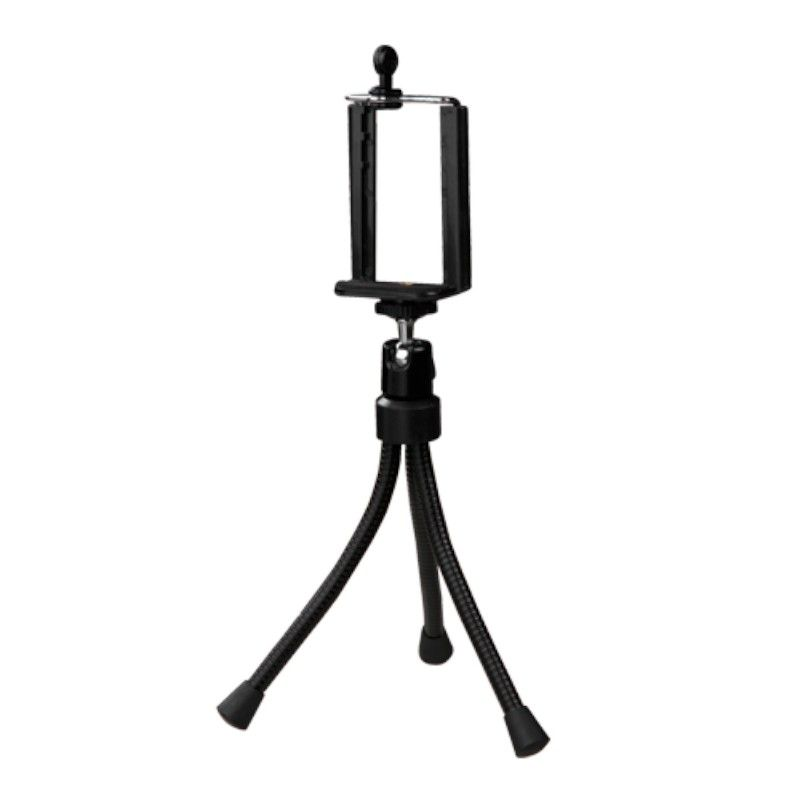 Insten Black Mini Tripod Monopod Stand For iPhone 6S Plus 6 6+ 5S 5 Samsung Galaxy S6 S5 S4 Edge Note 5 4 Android Camera