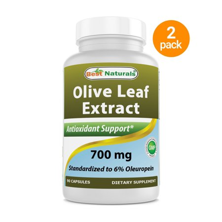 40 Mg 90 Capsules - 2 Pack - Best Naturals Olive Leaf Extract 700 mg 90 Capsules (Total 180 Capsules)