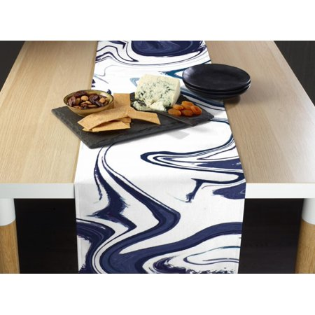 Blue Marble Table Runner 12