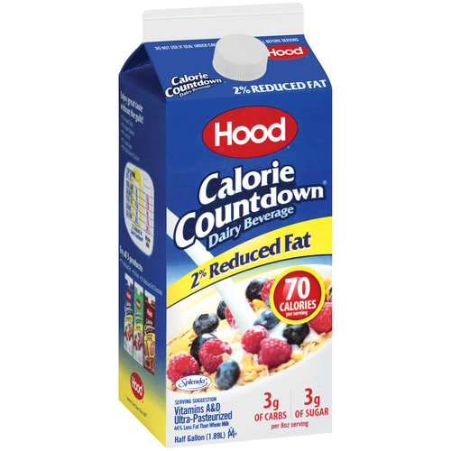 Hood Calorie Countdown 2% Reduced Fat Dairy Beverage, 0.5 gal