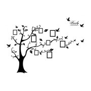 Tree Leaf Pattern Window Living Room Art Decal Wall Decor Sticker Black 2 in 1