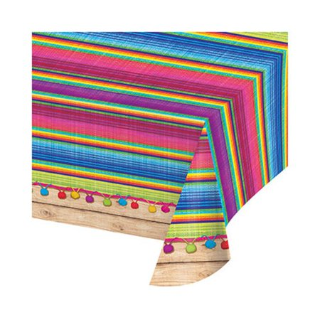 Group  54 x 102 in. Serape Plastic Border Tablecover All Over Print, Pack of 6](Serape Tablecloth)